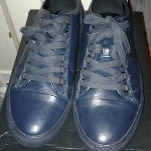 STEVE MADDEN NAVY  LEATHER SNEAKER SHOES  12